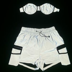 Reflective top and short set